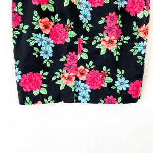 Ann Taylor Skirts - Ann Taylor Navy Blue Floral Print Skirt